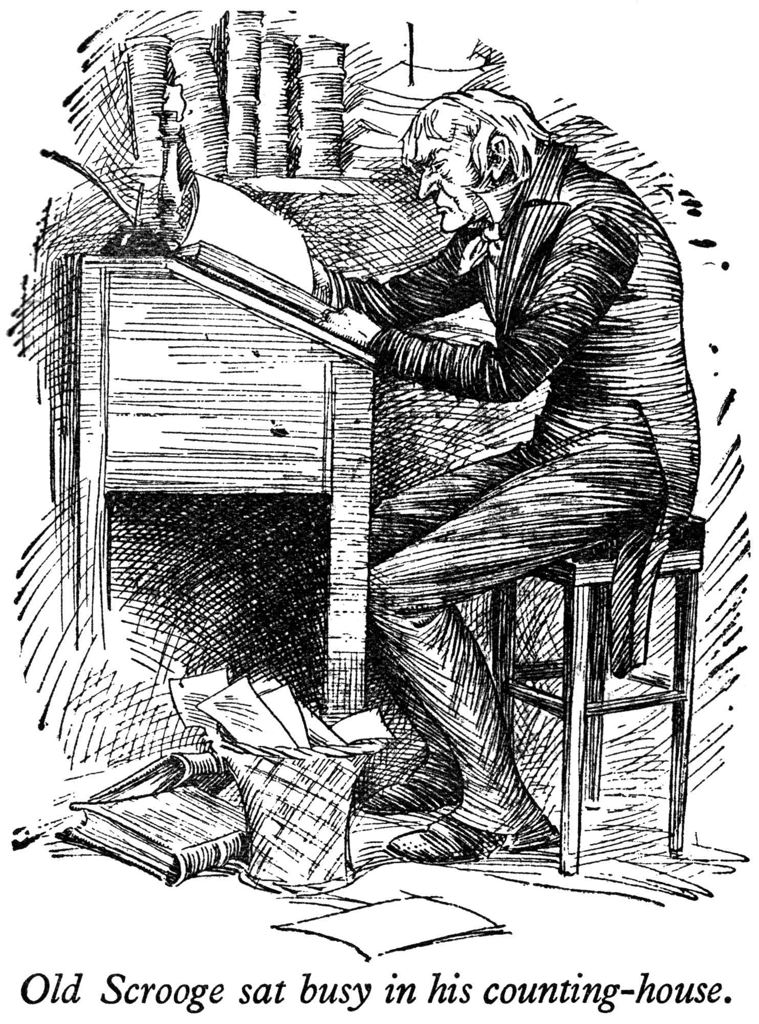 Christmas Carol Scrooge Drawing.A Gilbert Sullivan Christmas Carol Auditions Empire